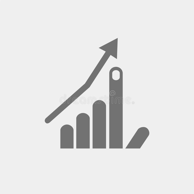 Icon Flat Hand Index Finger Up Arrow Growth Business Program