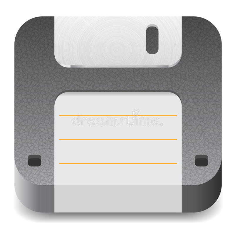 Download Icon for floppy disk stock vector. Image of illustration - 25389151