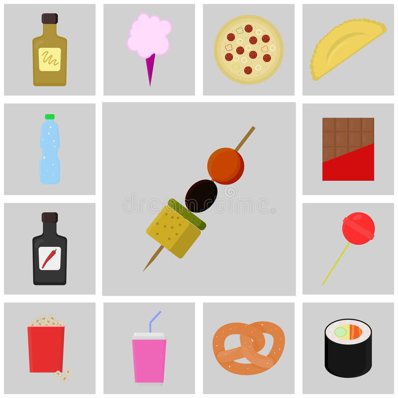 Icon food vector icon canapes stock vector illustration for Vector canape download