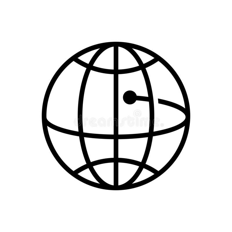 Black solid icon for Global Business, community and cooperation vector illustration