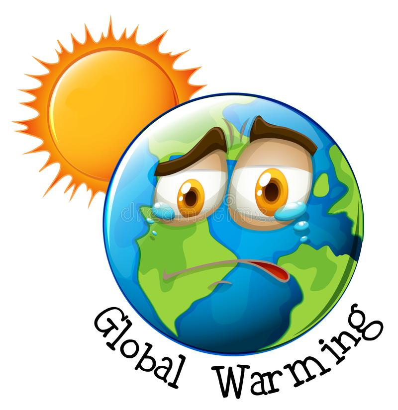 Icon of global warming vector illustration