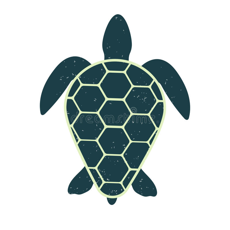 Icon of a great turtle. Vector image. Vintage and modern style. Icon of a great turtle. Vintage and modern style. Marine silhouette. Vector image of for videos vector illustration