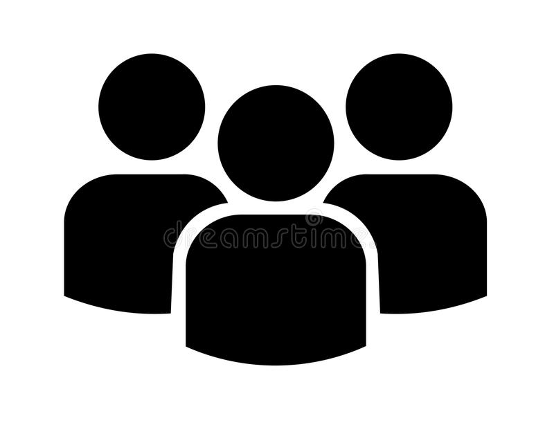 Group of three people stock illustration