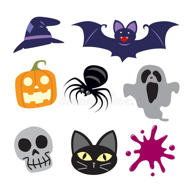 Icon halloween, vector. Icon halloween on white background, eps 10 royalty free illustration