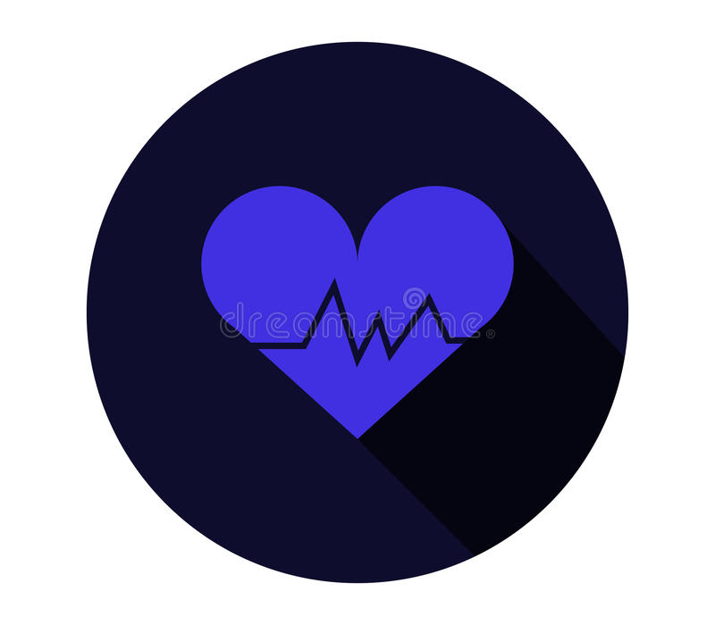 Icon heart beating. On a white background stock illustration