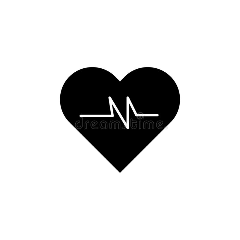 The icon of heart pulse. Simple flat icon illustration, vector of heart pulse for a website or mobile application. On white background royalty free illustration