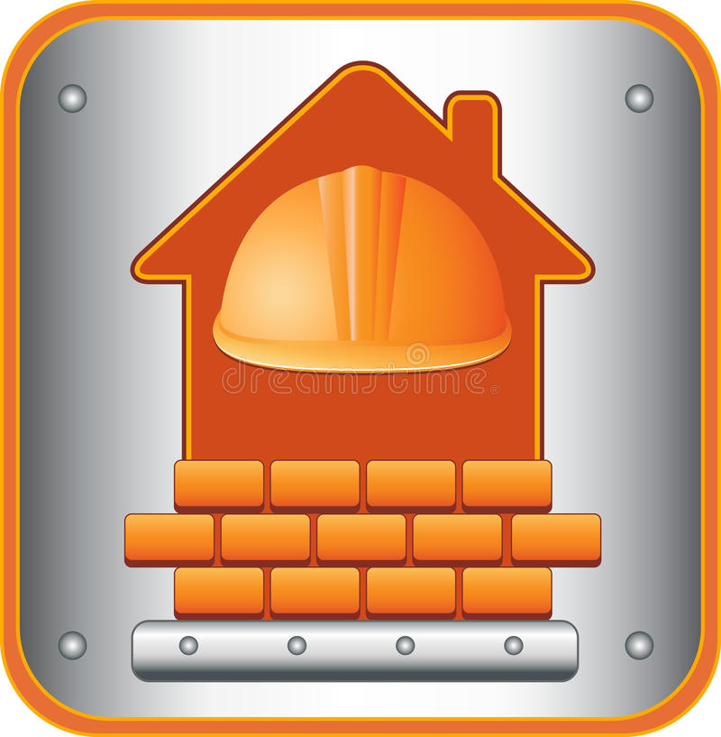 Download Icon With Helmet, House And Bricks Stock Vector - Image: 26035272