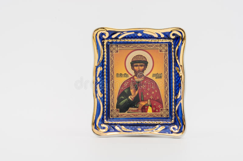 The icon of the Holy Prince Dmitry Donskoy royalty free stock image
