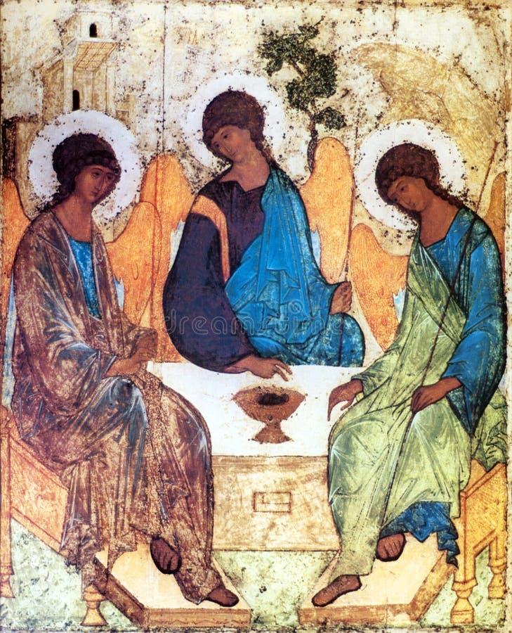 Icon of the Holy Trinity stock illustration