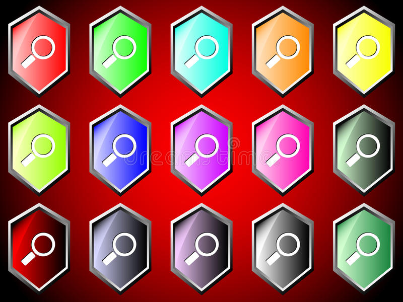 Download Icon with home stock illustration. Image of silver, icon - 12138890