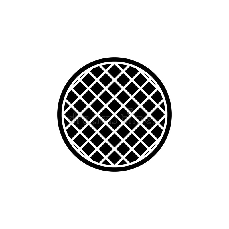 The icon of homemade pie. Simple flat icon illustration, vector of homemade pie for a website or mobile application. On white background royalty free illustration