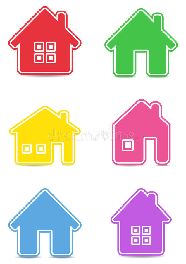 Download Icon houses stock vector. Image of interface, building - 24804683