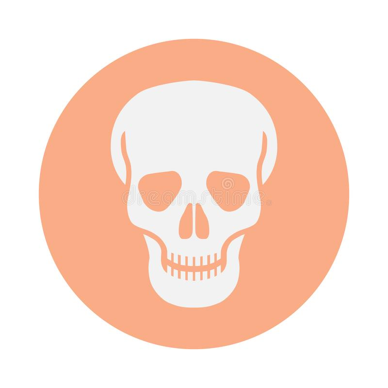 Icon human skull in the circle royalty free illustration
