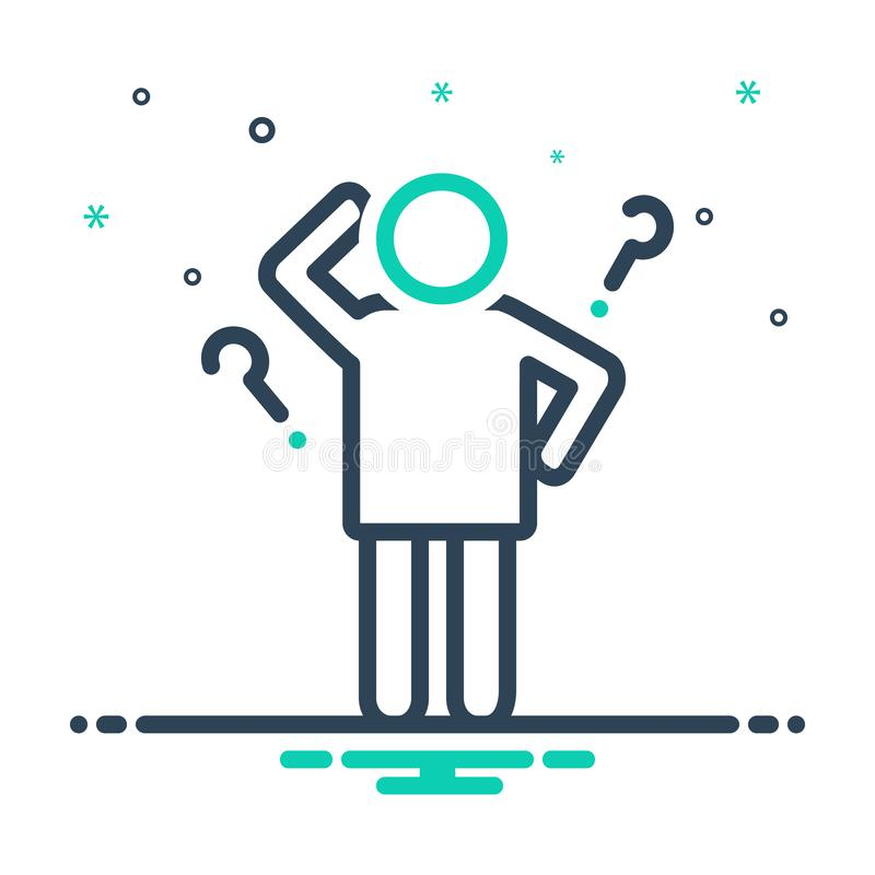 Mix icon for Idea, opinion and conclusion. Mix icon for Idea, enterprising, visionary, thought, person,  opinion and conclusion royalty free illustration