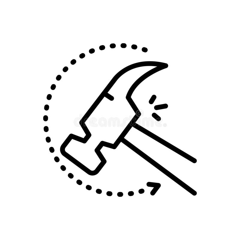Black line icon for Indestructible, unbreakable and durable. Black line icon for  indestructible, infrangible, inexhaustible, unspent, logo,  unbreakable and royalty free illustration