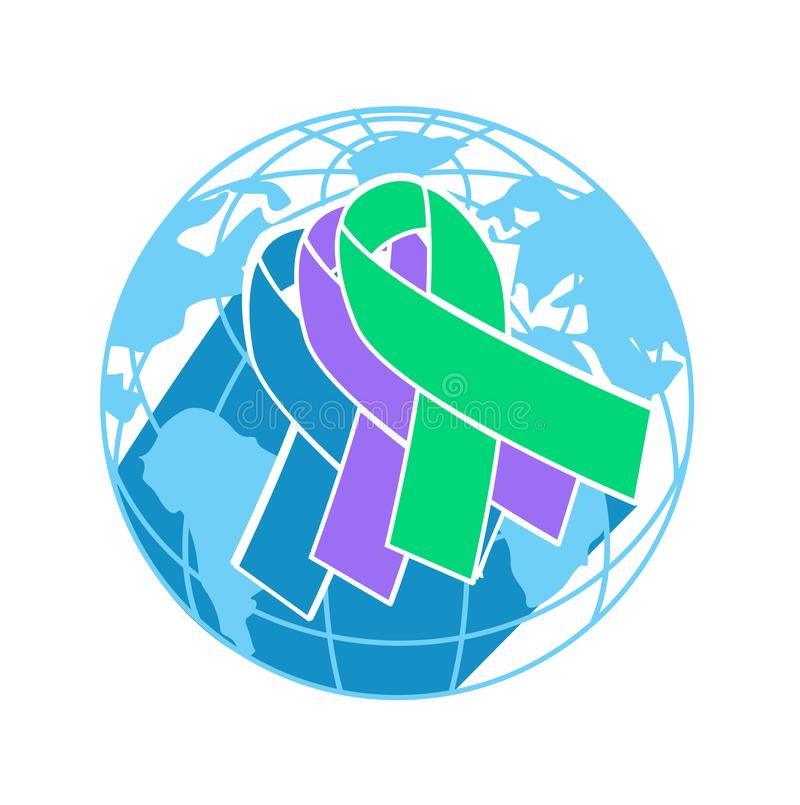 Icon International Awareness Day stock illustration