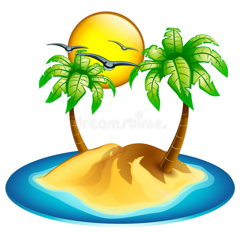 Icon Island Stock Vector Illustration Of Outdoors Nature