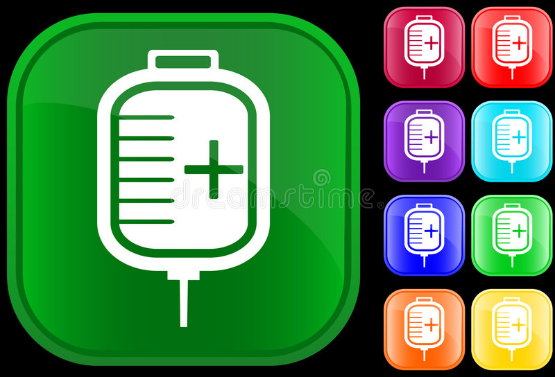 Download Icon of IV drip stock vector. Image of computer, buttons - 5233319