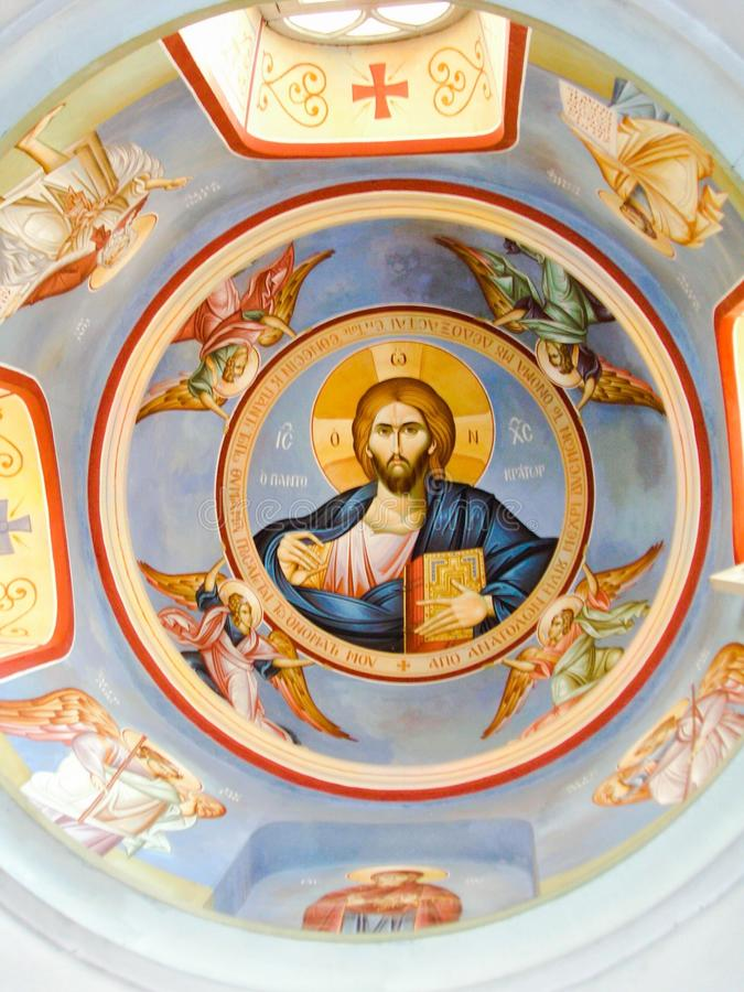 Icon Jesus Dome of Monastary royalty free stock photography