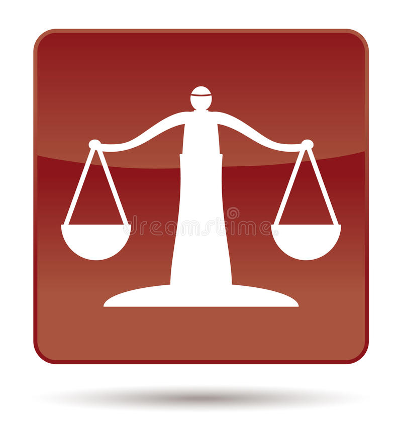 Download Icon of justice scales stock photo. Image of innocence - 25538774