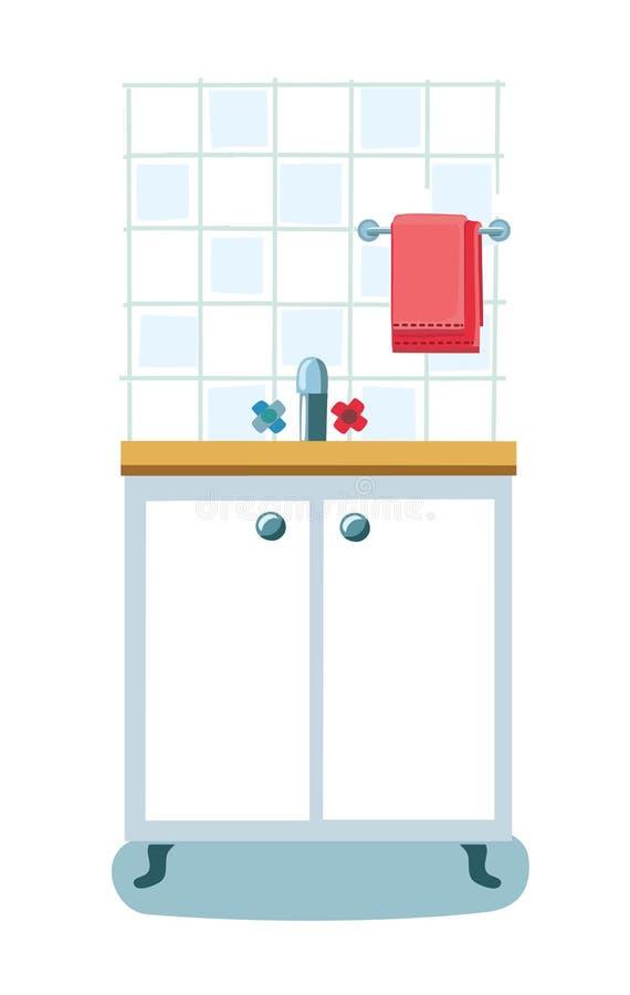 Icon kitchen sink. royalty free illustration