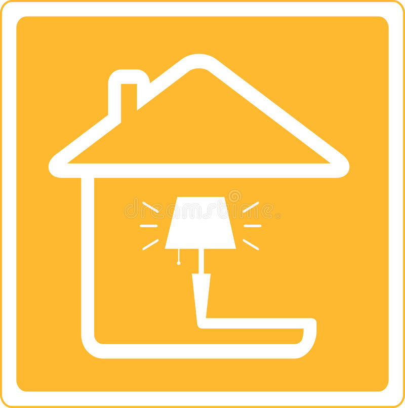 Icon with lamp and house