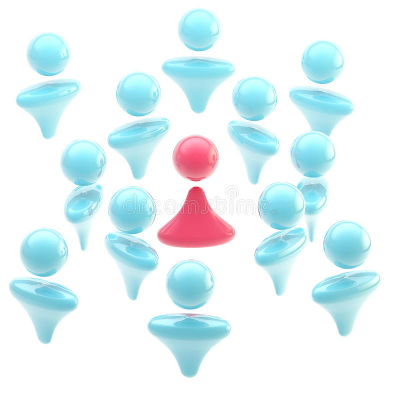 Download Icon-like Pink Woman Surrounded By A Crowd Of Men Stock Illustration - Image: 24234509