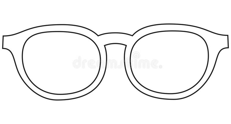 Icon line art poster man father dad day glasses, spectacles. royalty free illustration