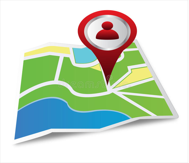 Download Location on a map stock vector. Image of explore, pointed - 29757226