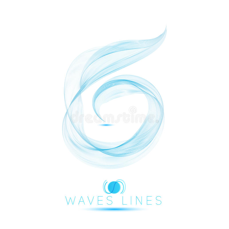 Icon logo beautiful blend massive waves abstract background royalty free illustration