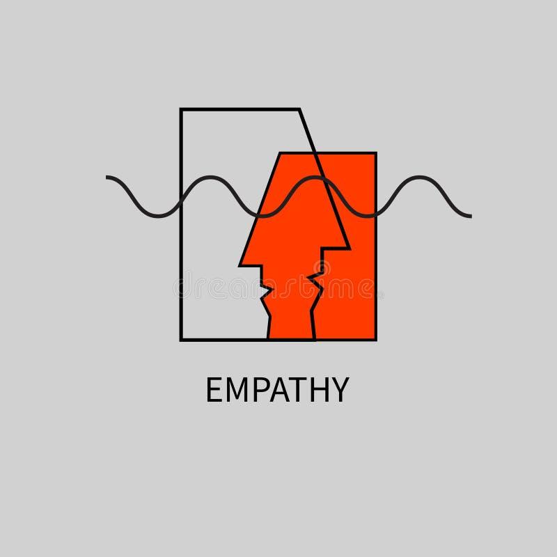 Icon, logo empathy vector illustration
