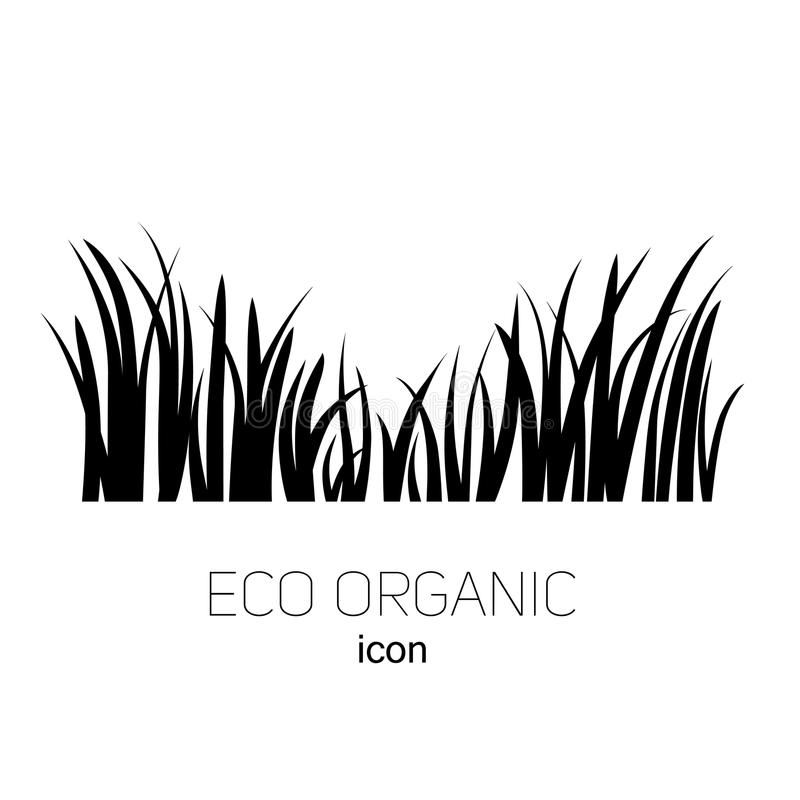Icon logo grass. Grass icon. Silhouette of plants for logo or sign vector illustration