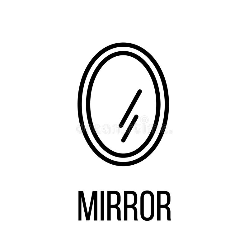 Icon or logo in modern line style. Mirror icon or logo in modern line style. High quality black outline pictogram for web site design and mobile apps. Vector stock illustration