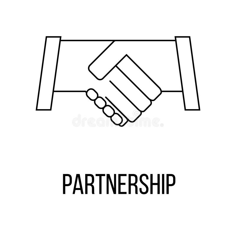 Icon or logo in modern line style. Partnership icon or logo line art style. Vector Illustration royalty free illustration