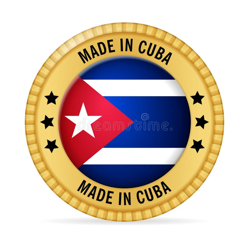 Icon made in Cuba royalty free illustration