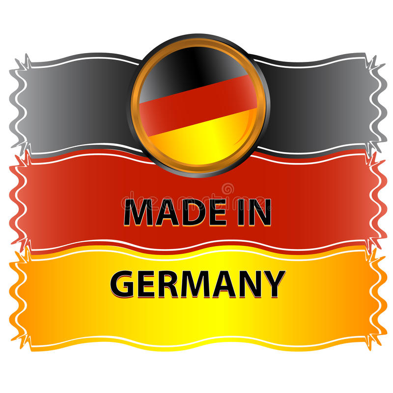 Download Icon made in germany stock vector. Illustration of manufactured - 25951628