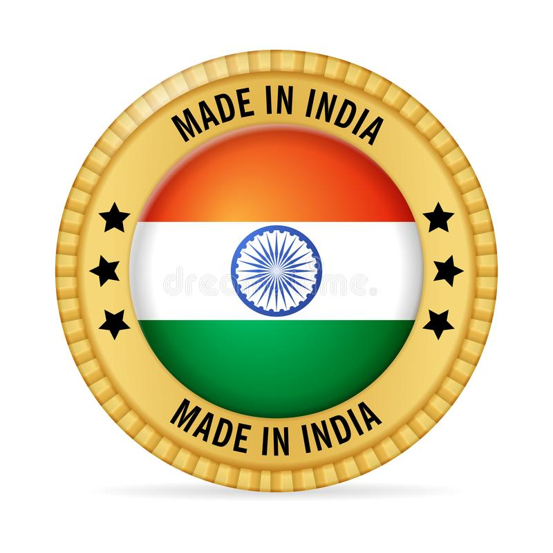 Icon made in India vector illustration