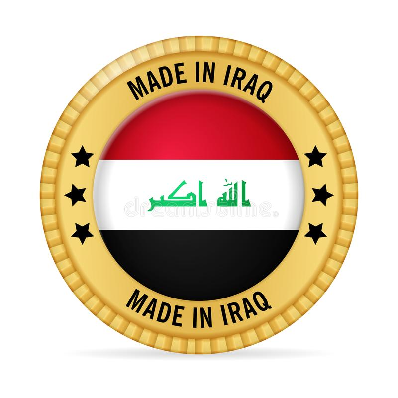 Icon made in Iraq stock illustration