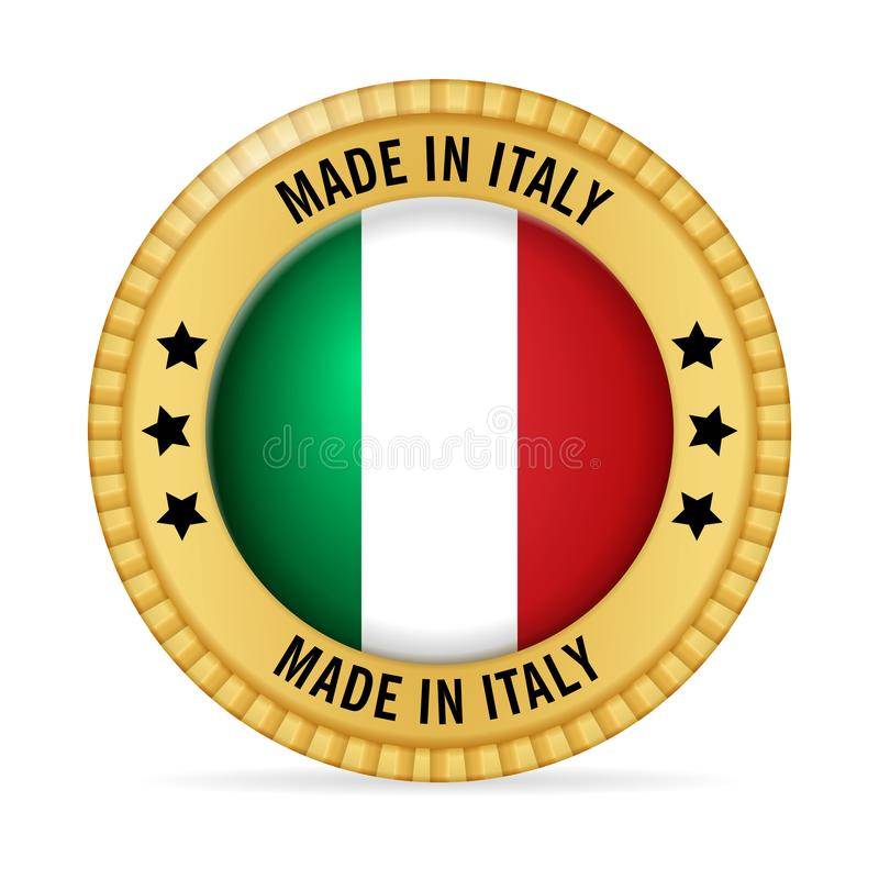 Icon made in Italy royalty free illustration