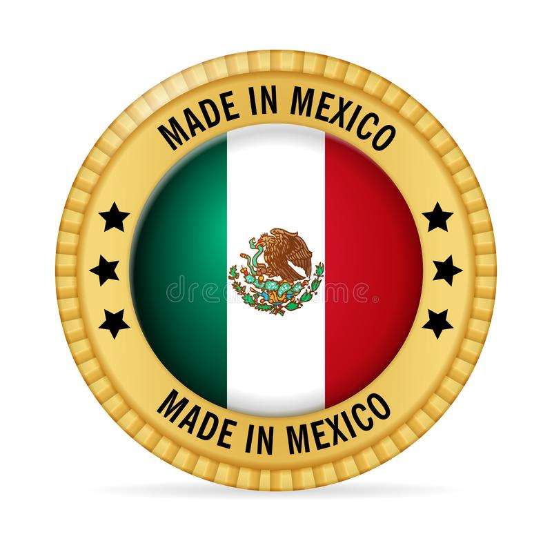 Icon made in Mexico stock illustration