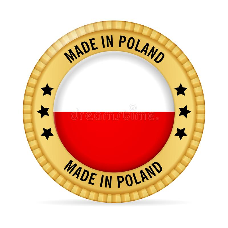 Icon made in Poland vector illustration