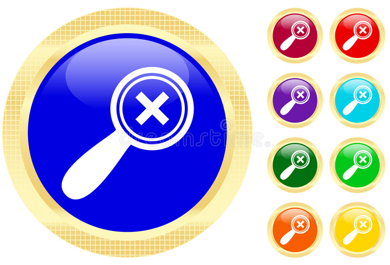 Download Icon of magnifying glass stock vector. Image of element - 5417201