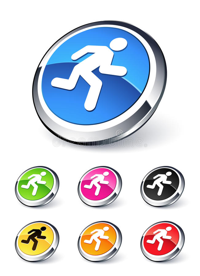 Download Icon man running stock vector. Illustration of athletic - 11839084