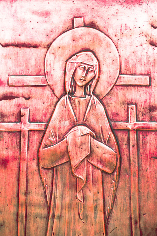 Icon of Mary stock photography