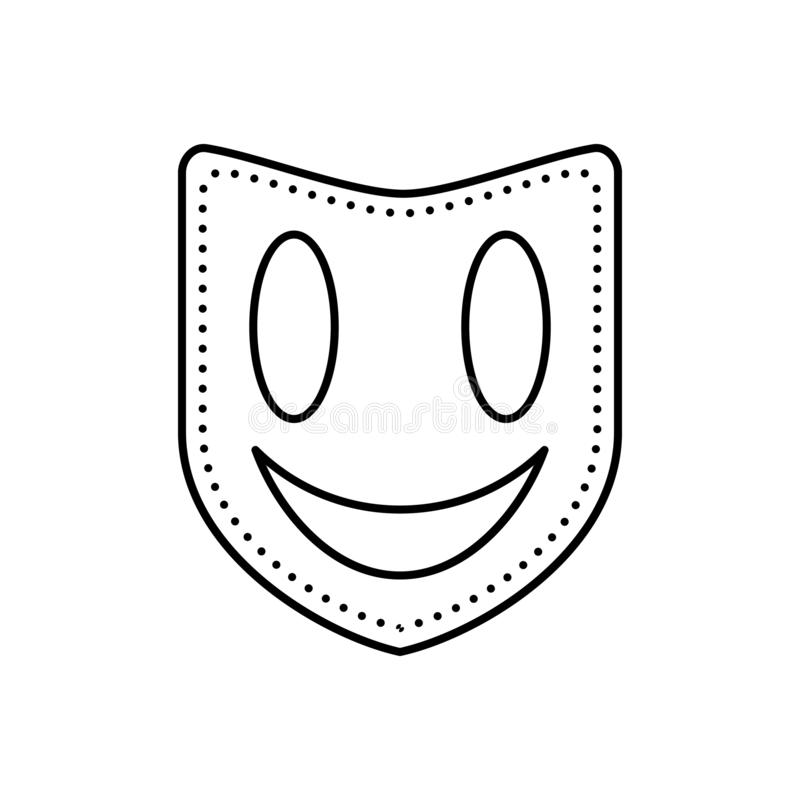 Black line icon for Mask, face mask and drama vector illustration