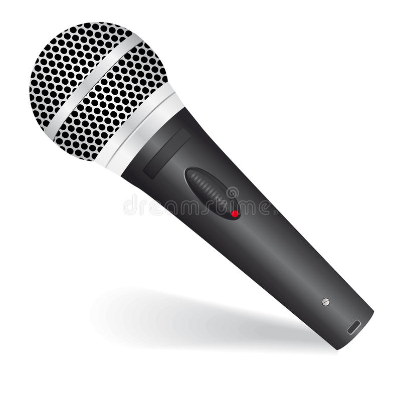 Icon with a microphone royalty free stock image