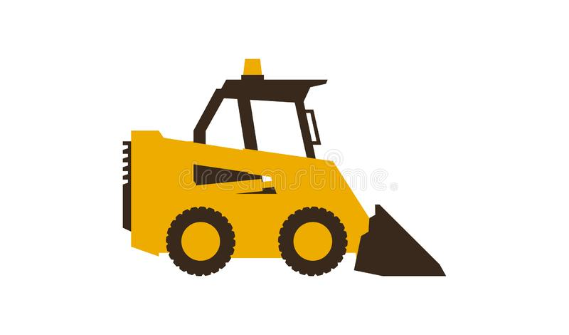 Mini Shovel Isolated Flat Icon Stock Illustration Illustration of industrial sand 109971013