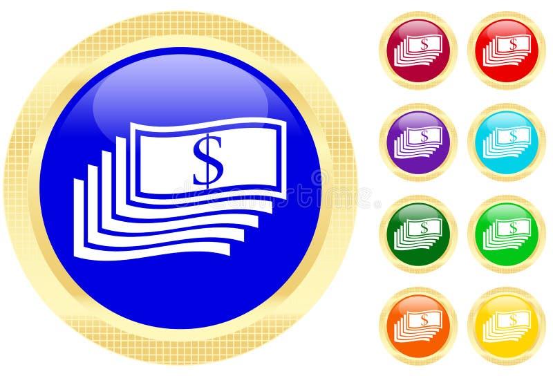 Icon of money stock illustration