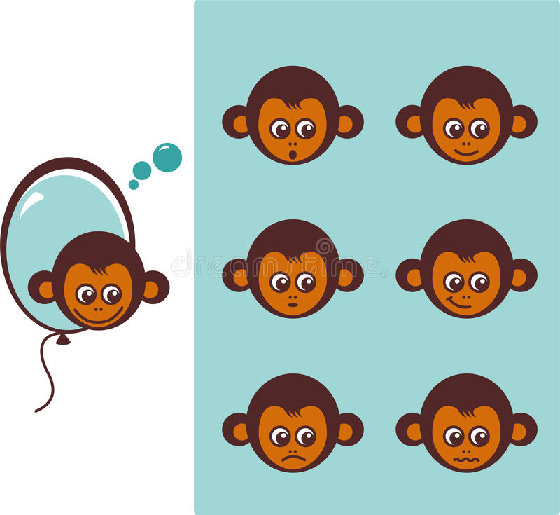Download Icon of monkeys stock vector. Illustration of graphical - 22128920