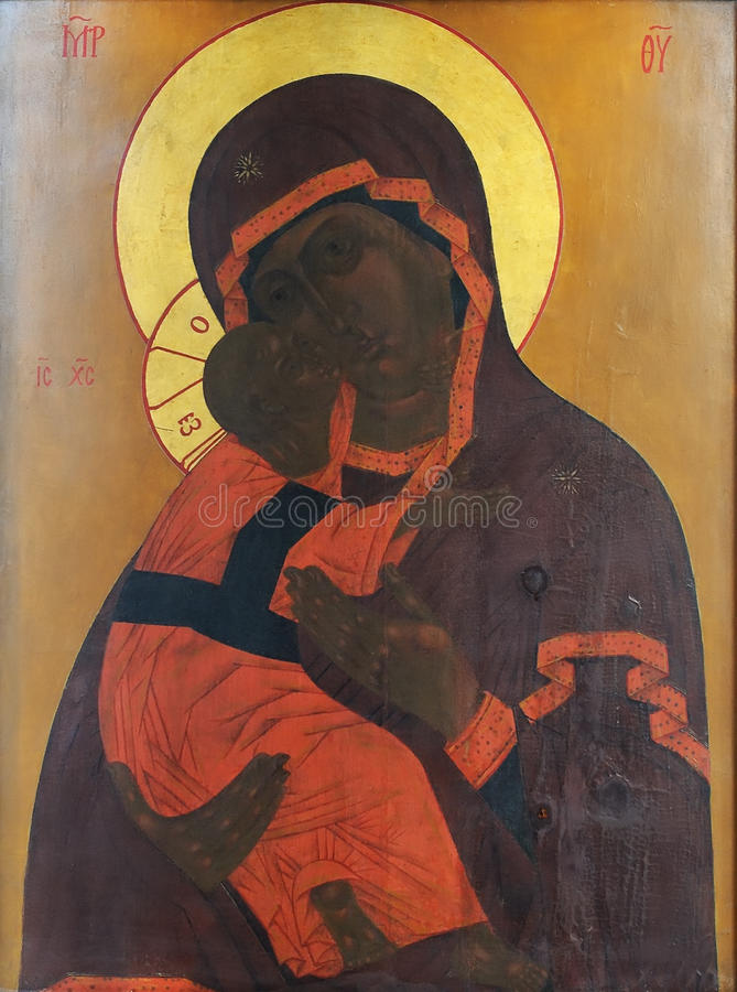 Download Icon Of Mother Of God And Child (Jesus Christ) Stock Photo - Image: 11851622